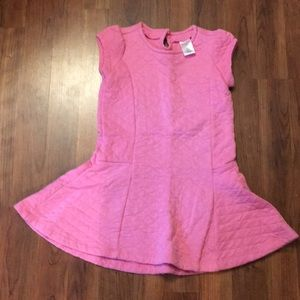 Pink Cozy Quilted Drop Waist Dress